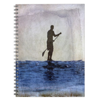 Paddle Board Surfing , Copyright Karen J Williams Spiral Notebook