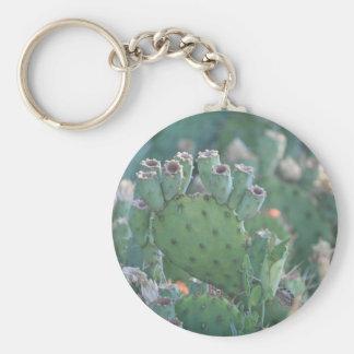 Paddle Cactus Keychain
