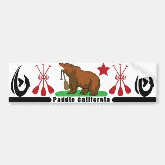 Paddle California Car Bumper Sticker