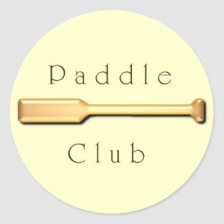 Paddle Club Classic Round Sticker