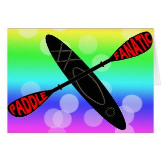 PADDLE FANATIC - KAYAK LOGO CARD