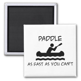 Paddle Faster 2 Inch Square Magnet