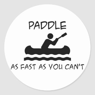 Paddle Faster Classic Round Sticker