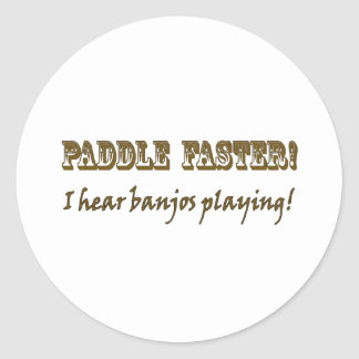 Paddle Faster! Classic Round Sticker