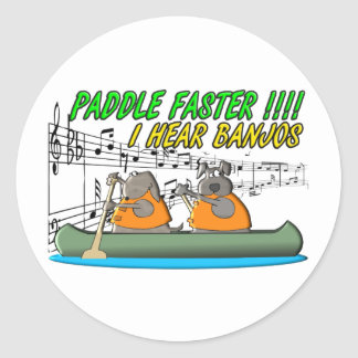 Paddle Faster !!!! Classic Round Sticker