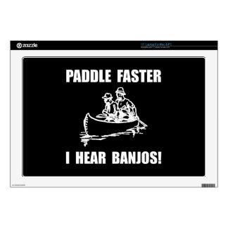 Paddle Faster Hear Banjos 2 Laptop Decal