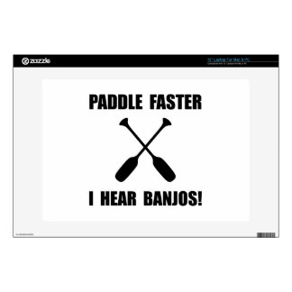 """Paddle Faster Hear Banjos Decal For 13"""" Laptop"""