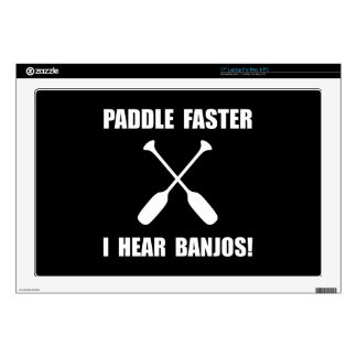 "Paddle Faster Hear Banjos Skin For 17"" Laptop"
