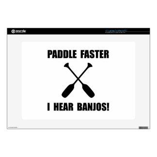 """Paddle Faster Hear Banjos 15"""" Laptop Decal"""