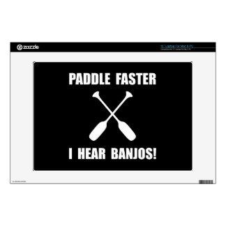 """Paddle Faster Hear Banjos 13"""" Laptop Skins"""