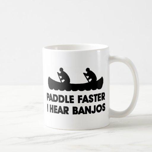 Paddle Faster I Hear Banjo's Classic White Coffee Mug