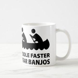 Paddle Faster I Hear Banjos Classic White Coffee Mug