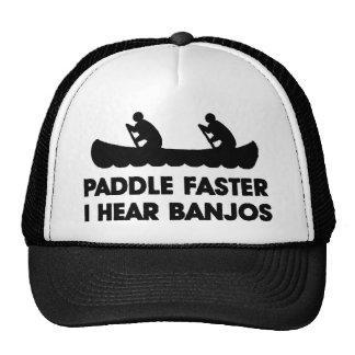 Paddle Faster I Hear Banjo's Trucker Hat