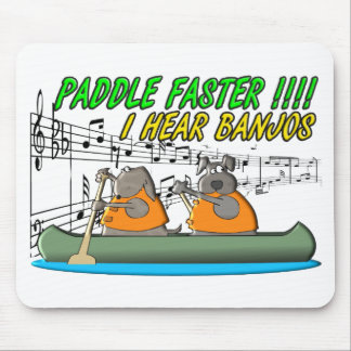Paddle Faster !!!! Mouse Pad