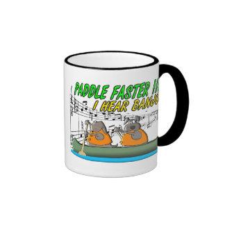 Paddle Faster !!!! Mugs