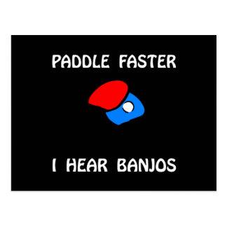 Paddle Faster Ping Pong Postcard