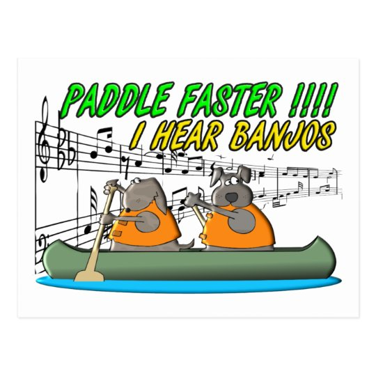 Paddle Faster !!!! Postcard