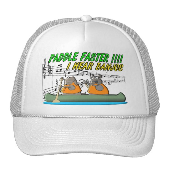 Paddle Faster !!!! Trucker Hat