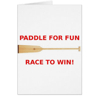 Paddle for Fun, Race to Win! Cards