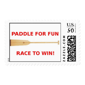 Paddle for fun, Race to win Postage