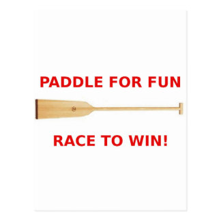 Paddle for Fun, Race to Win! Post Cards