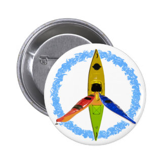 PADDLE FOR PEACE PINBACK BUTTON
