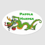 Paddle Harder Dragon Boat Stickers