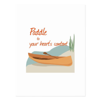 Paddle Hearts Post Cards