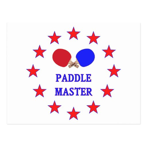 Paddle Master Ping Pong Postcard
