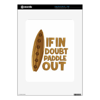 Paddle Out iPad Decal