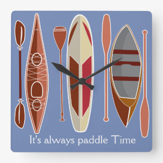 Paddle Passion Square Wall Clock