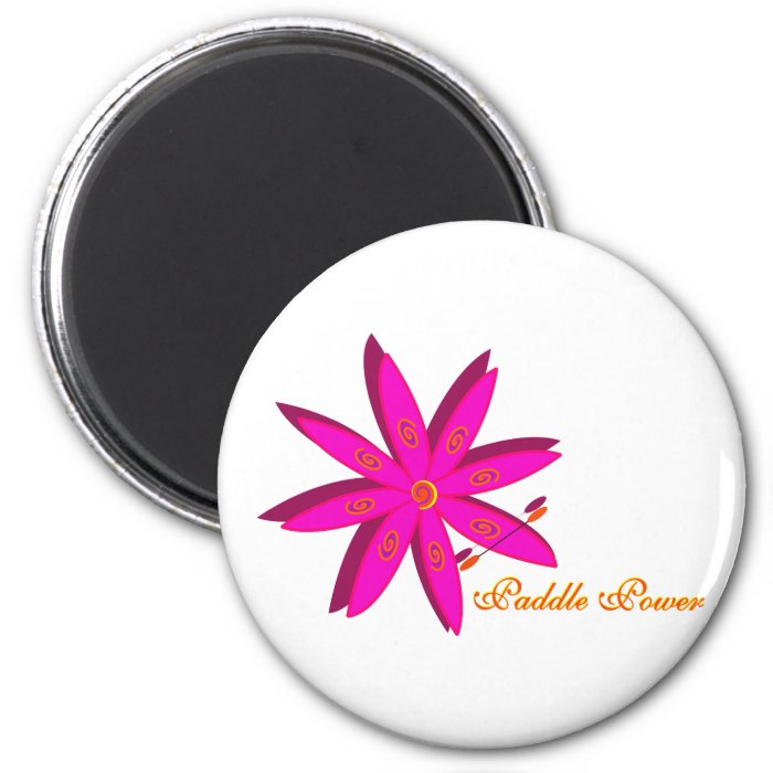 Paddle Power (Pink) 2 Inch Round Magnet