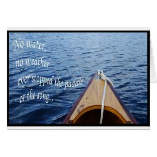 Paddle Song Greeting Card