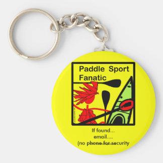 Paddle Sport Fanatic Fun Keychain