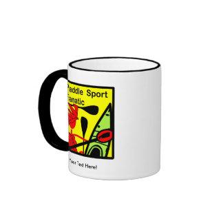 Paddle Sport Fanatic Fun Ringer Coffee Mug