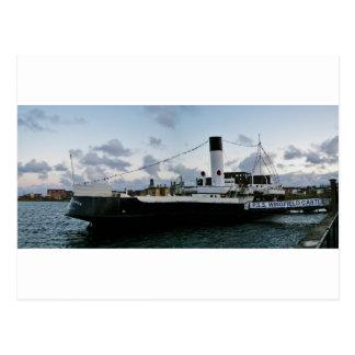 Paddle Steam Ship Postcard