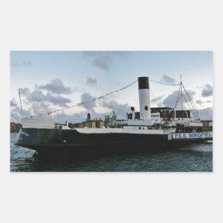 Paddle Steam Ship Rectangular Sticker