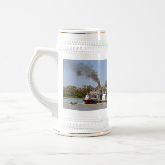 Paddle Steamer Chugging Down The River, Beer Stein