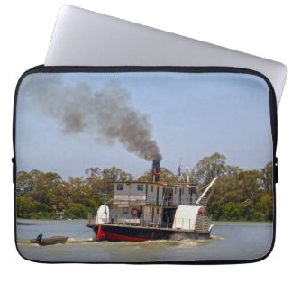 Paddle Steamer Chugging Down The River, Computer Sleeve
