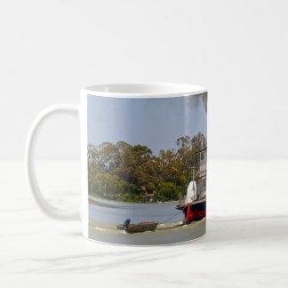 Paddle Steamer Cruising River Murray, Coffee Mug