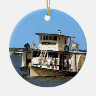 Paddle steamer, Goolwa, Australia Ceramic Ornament