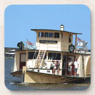 Paddle steamer, Goolwa, Australia Drink Coaster