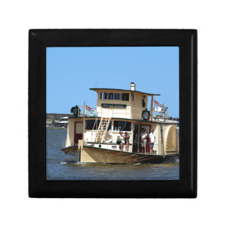 Paddle steamer, Goolwa, Australia Jewelry Box