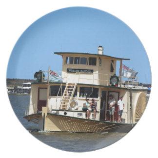 Paddle steamer, Goolwa, Australia Melamine Plate