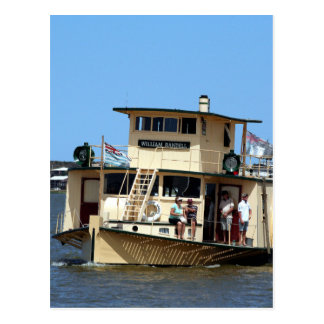 Paddle steamer, Goolwa, Australia Postcard