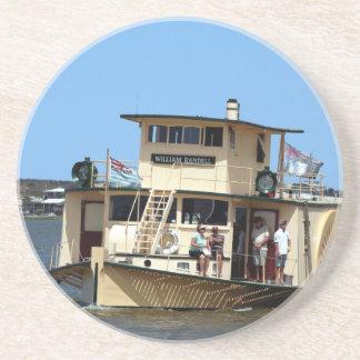 Paddle steamer, Goolwa, Australia Sandstone Coaster