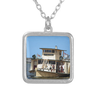 Paddle steamer, Goolwa, Australia Silver Plated Necklace
