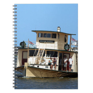 Paddle steamer, Goolwa, Australia Spiral Notebook