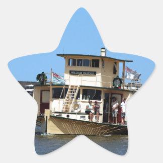 Paddle steamer, Goolwa, Australia Star Sticker