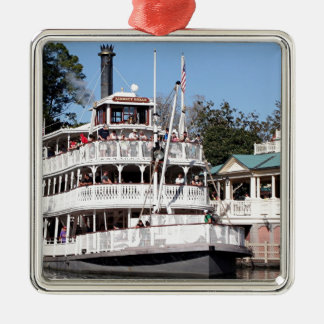 Paddle steamer, USA Metal Ornament